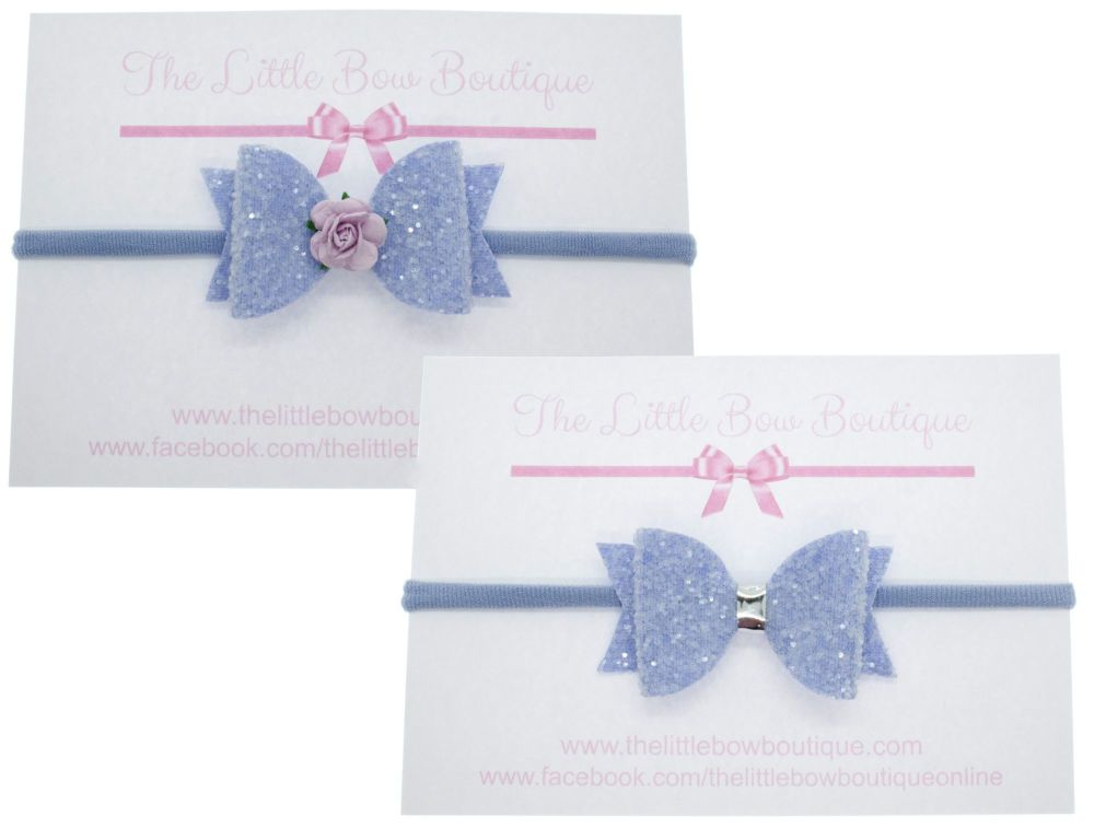 Ice Cream Sparkles Small on headband – Lilac