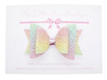 Rainbow Sugar Frosting Bow