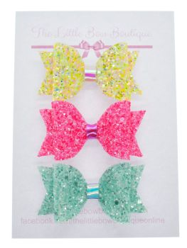 Summer Sparkles Set of 3 small bows