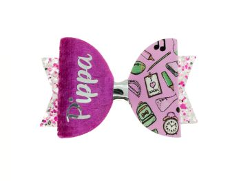 Girly School Stuff  – Personalised Name Bow