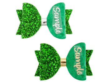 Colours for School – Green – Name Bow