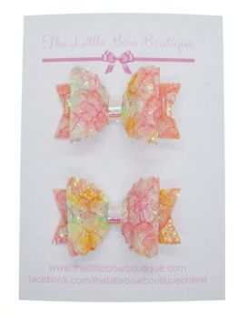 Autumn Sparkles Set of 2 Small Bows