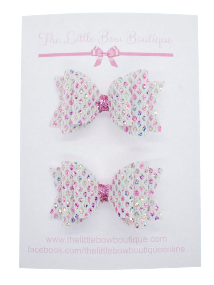 Dazzling Jewels Set of 2 Small Bows