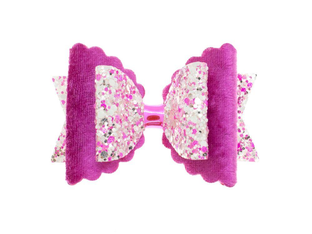 Gorgeous Pink Velvet Regular Size Bow
