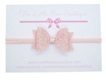 Cotton Candy Pink Bow Headband