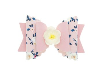 Autumn Blooms Pink Regular Size Bow