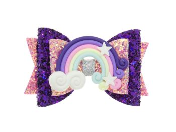 Jewel Colours Rainbow Regular Size Bow