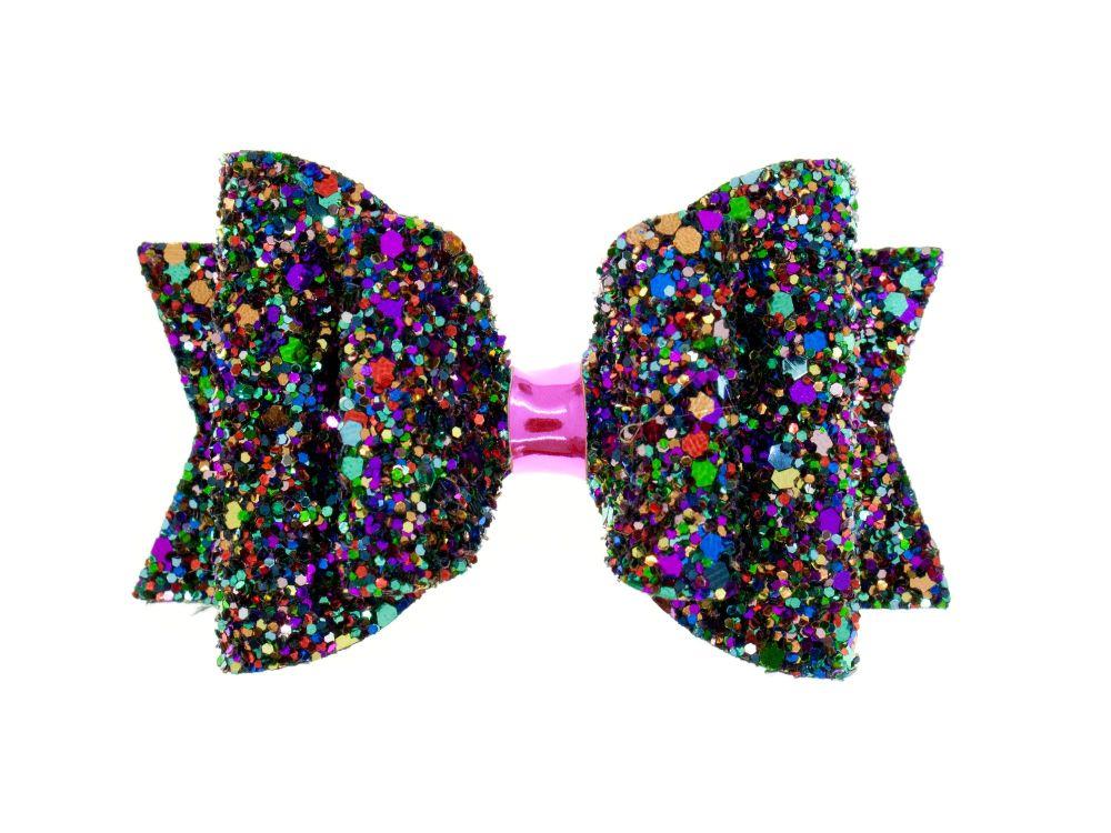 Kaleidoscope of Glitter Regular Size Bow