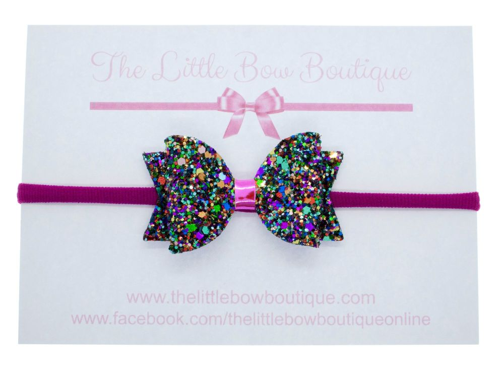 Kaleidoscope of Glitter Bow Headband