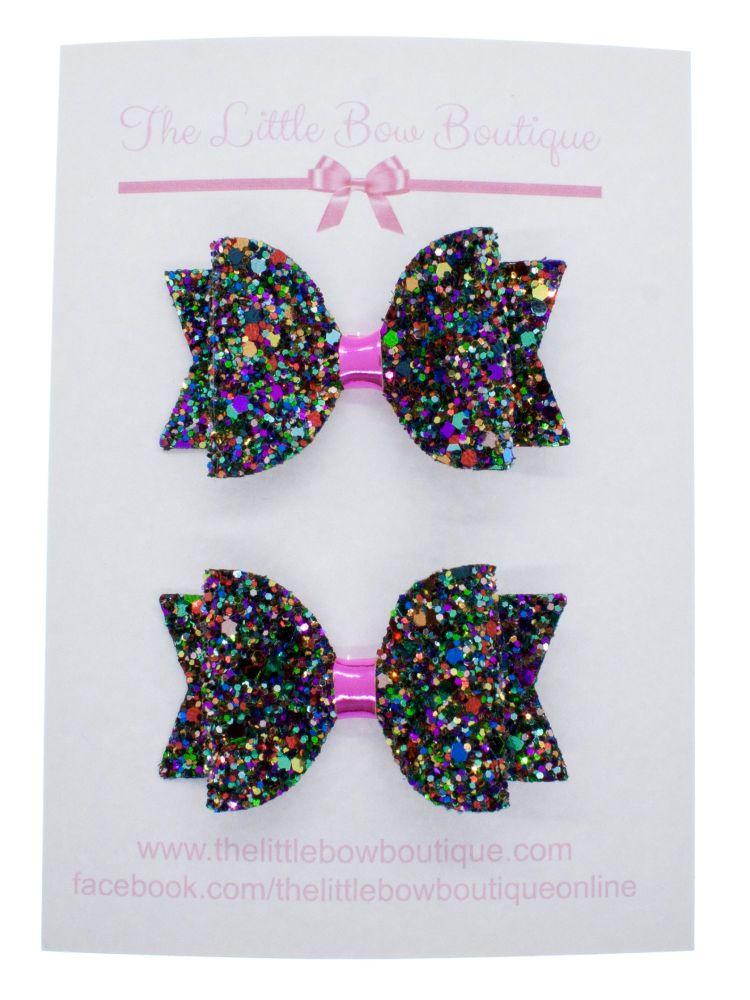 Kaleidoscope of Glitter Set of 2 Small Bows