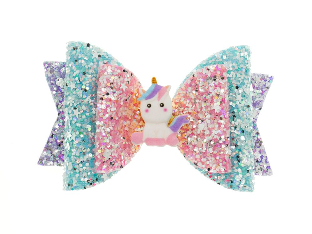 Sparkles The Unicorn Regular Size Bow