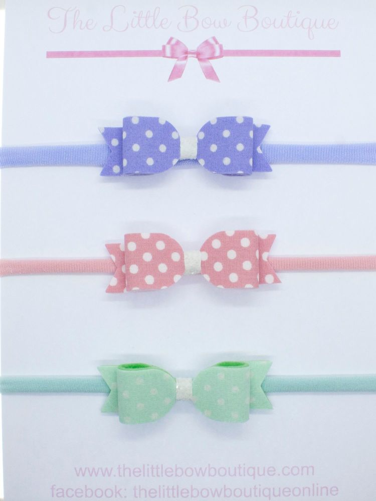 Itsy Bitsy Polka Dot Trio Headband Set