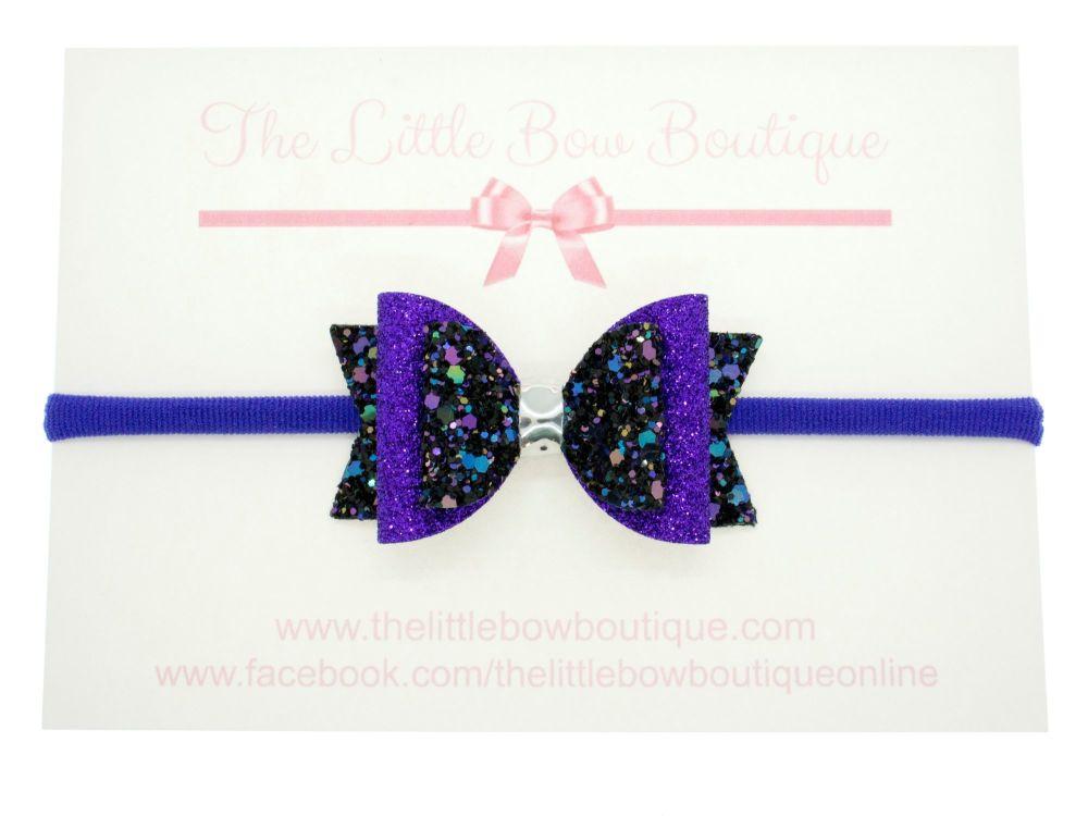 Hocus Pocus Glitter Bow Headband