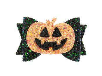 Glittering Pumpkin Bow