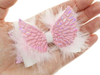 Angel Feather Wings Bow