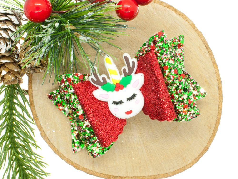 Unicorn Reindeer Bow