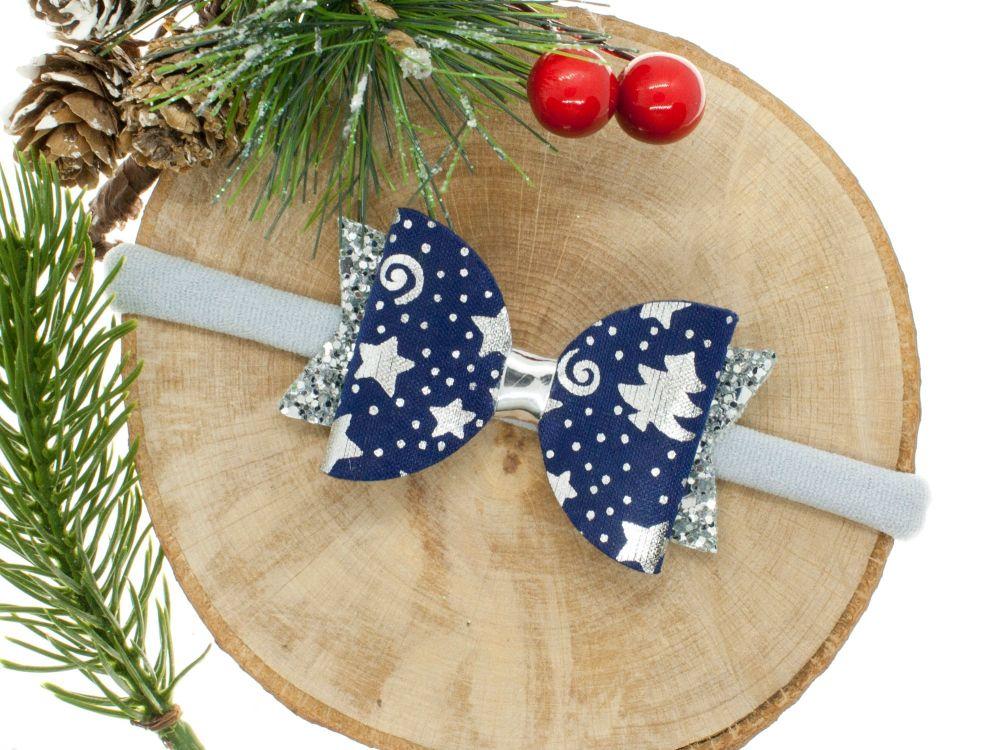 Starry Starry Night Small Bow Headband
