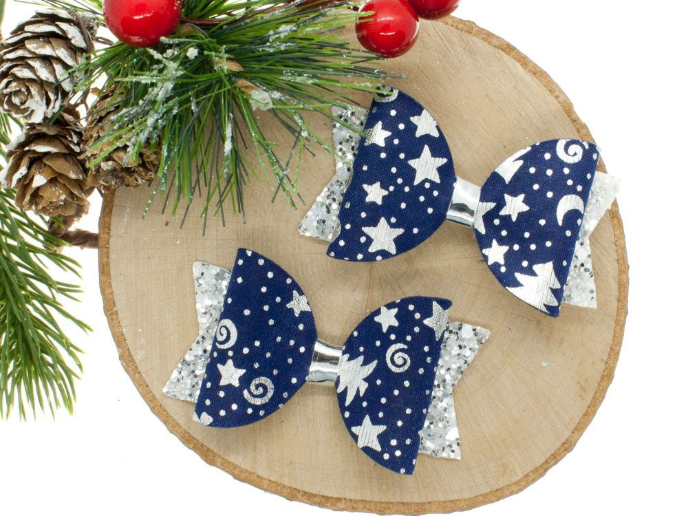 Starry Starry Night Set of 2 Small Bows