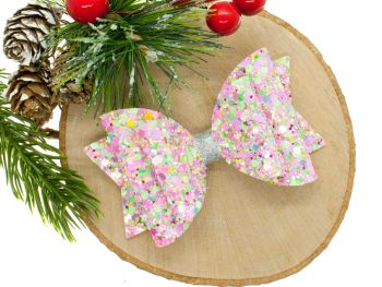 Candy Sprinkles Glitter Bow