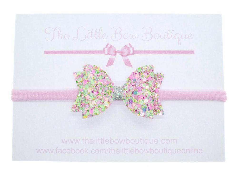 Candy Sprinkles Glitter Small Bow Headband