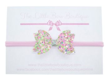 Candy Sprinkles Glitter Small Bow Headband