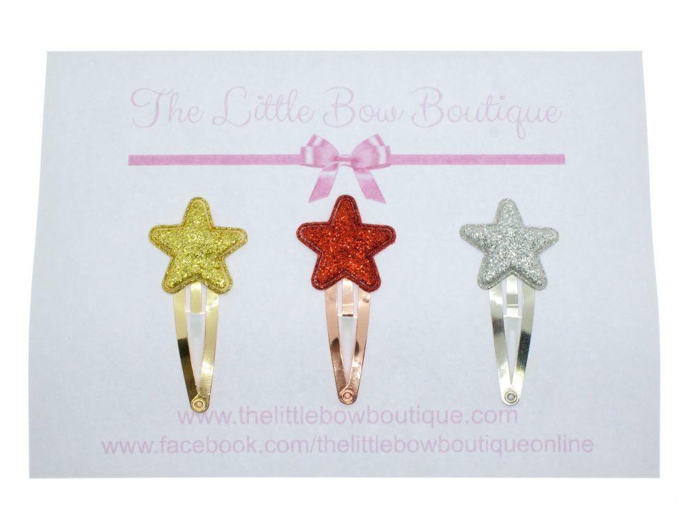 Itsy Bitsy Glitter Star Clips