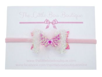 Angel Feather Wings Small Bow Headband
