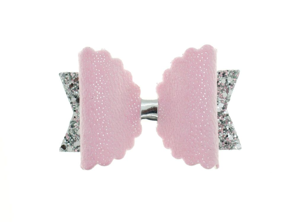 Pink Fur Luxury Bow