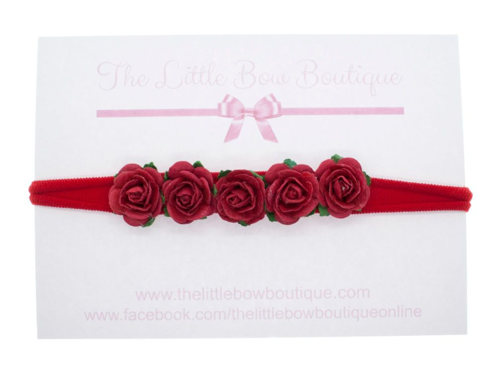 Beautiful Roses Headband - Dusky Pink