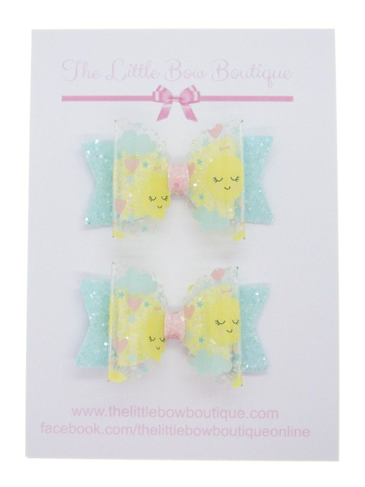 Sunshine Day – Set of 2 x Small Bows
