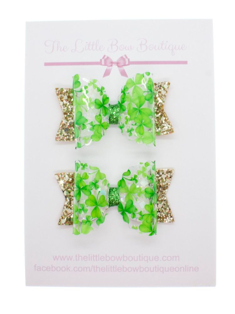 The Luck of the Irish – Set of 2 x Small Bows