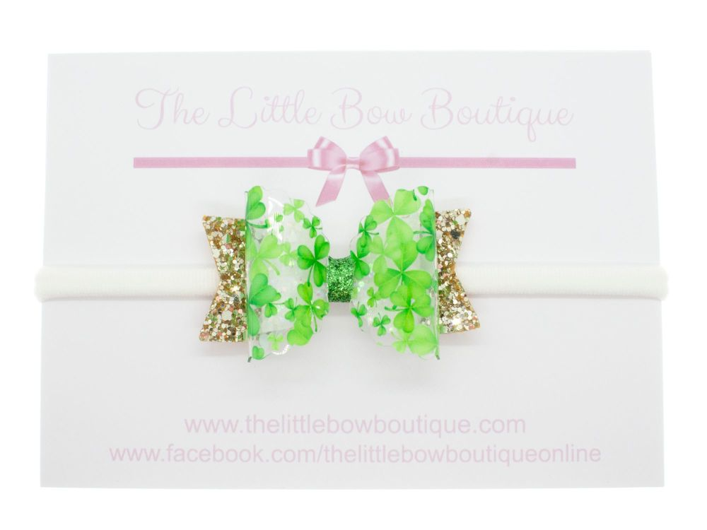 The Luck of the  - Small Bow on Headband or Clip