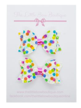 Rainbow Party - Set of 2 x Small Bows
