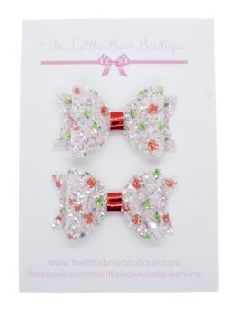 Cherry Berry Sparkles – Set of 2 x Small Bows