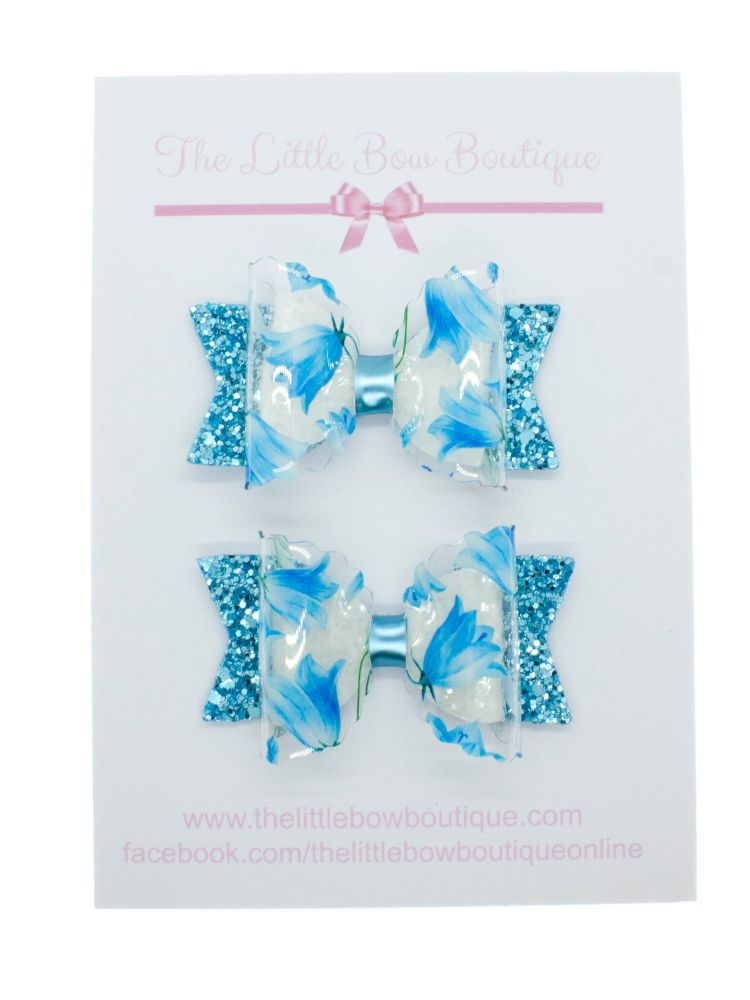 Bluebell Beauty – Set of 2 x Small Bows