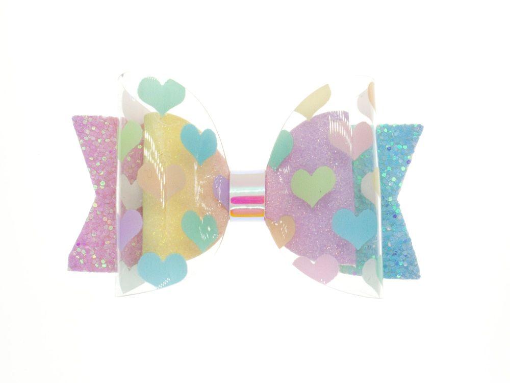 I heart Rainbows – Regular Size Bow