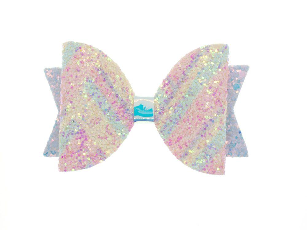 Pretty Pastels Glitter – Regular Size Bow