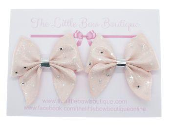 Ballet Pink Sparkle Spots – Set of 2 x Bows
