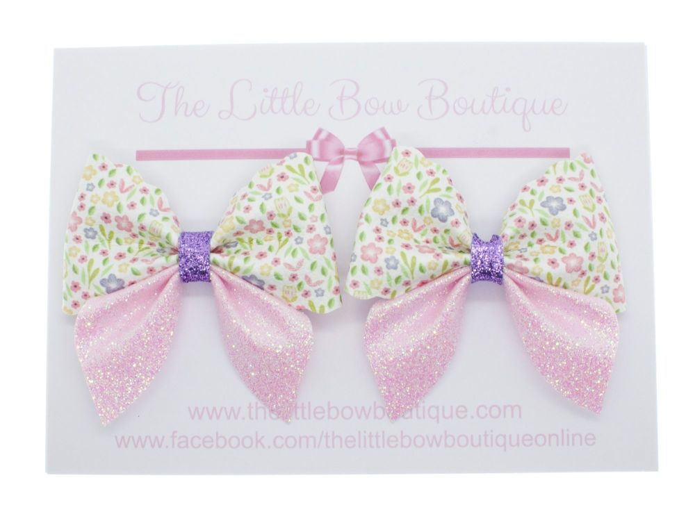 Gardens in Spring – Set of 2 x Bows