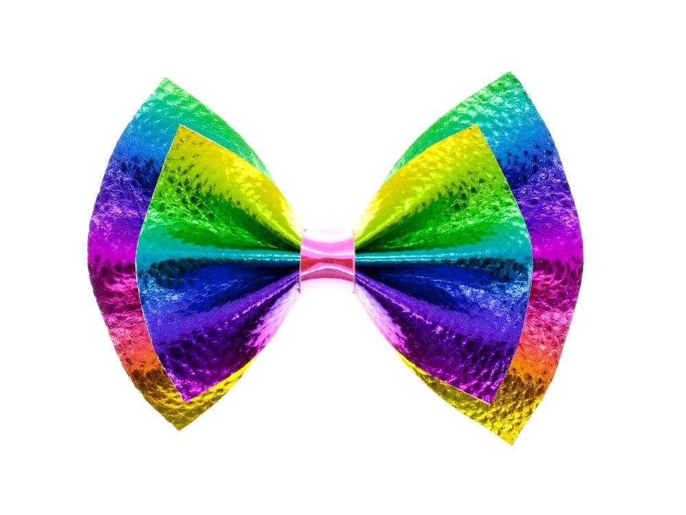 Metallic Rainbow – New 4 inch Bow