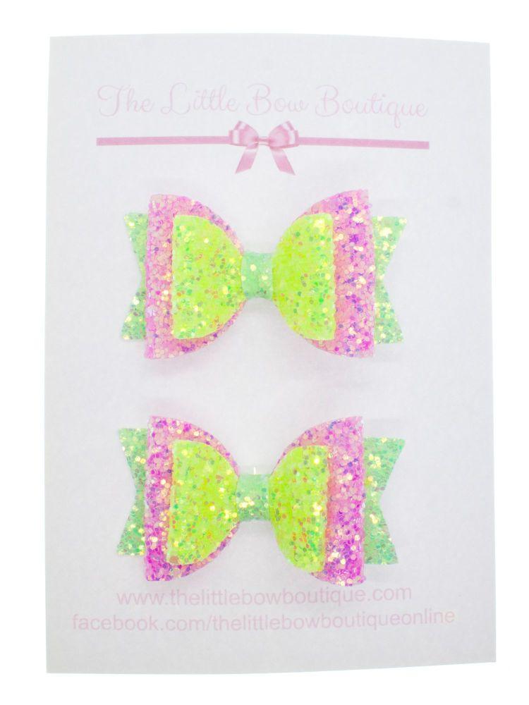 Neon Disco – Set of 2 x small bow