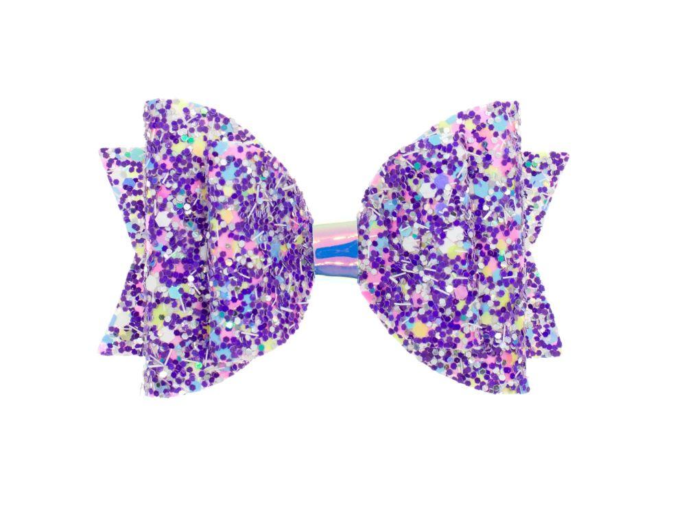 Confetti Burst Purple – Regular Size Bow