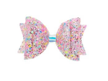 Confetti Burst Pink – Regular Size Bow