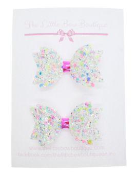 Confetti Burst Pearl – Set of 2 x small bow