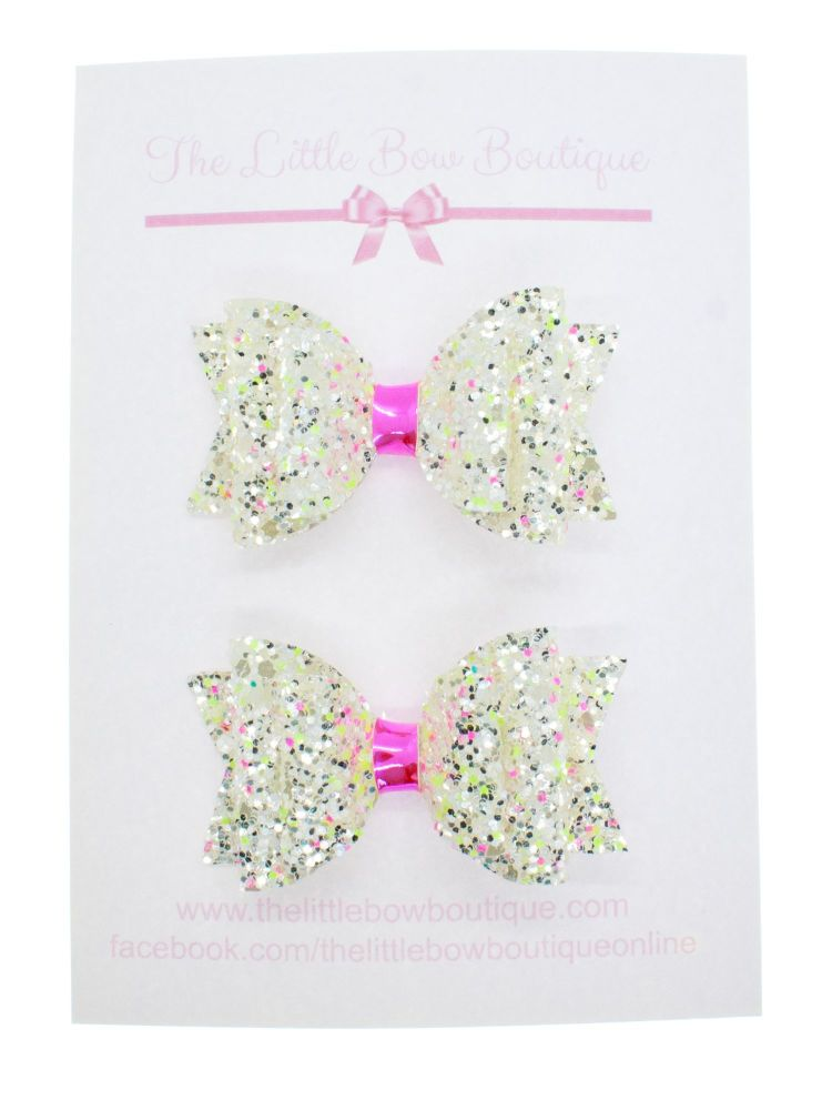 Neon Sprinkles Set of 2 x Small Bows
