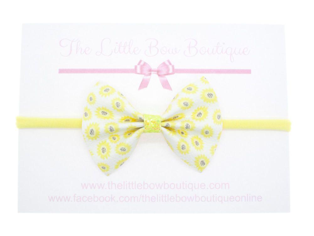 Mellow Yellow Pretty Pinch Bow Headband