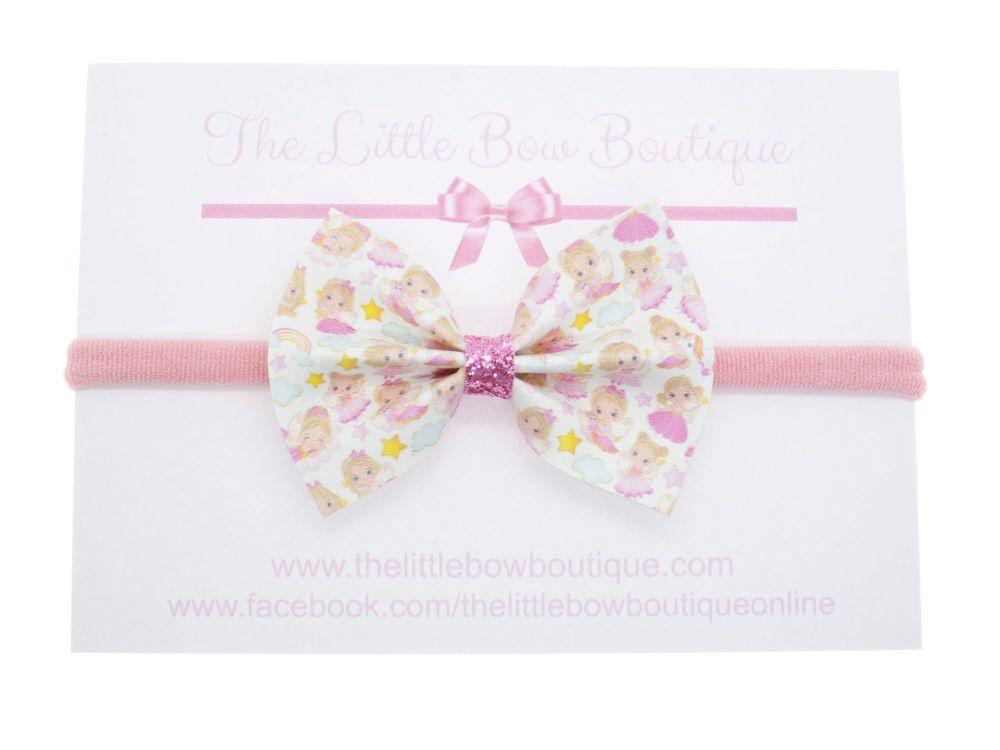 Cute Little Fairies Pretty Pinch Bow Headband