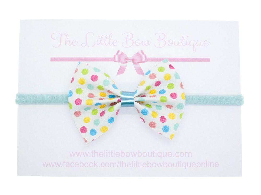 Polka Dot Party Pretty Pinch Bow Headband