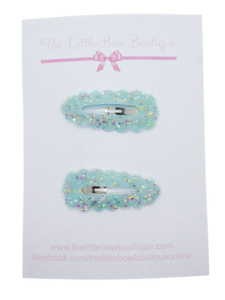 Snap Clips – Totally Turquoise Set of 2