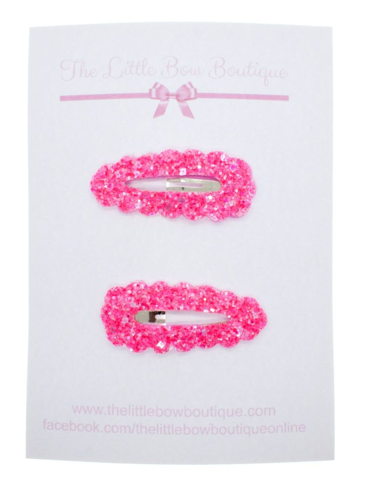 Snap Clips – Neon Pink Set of 2